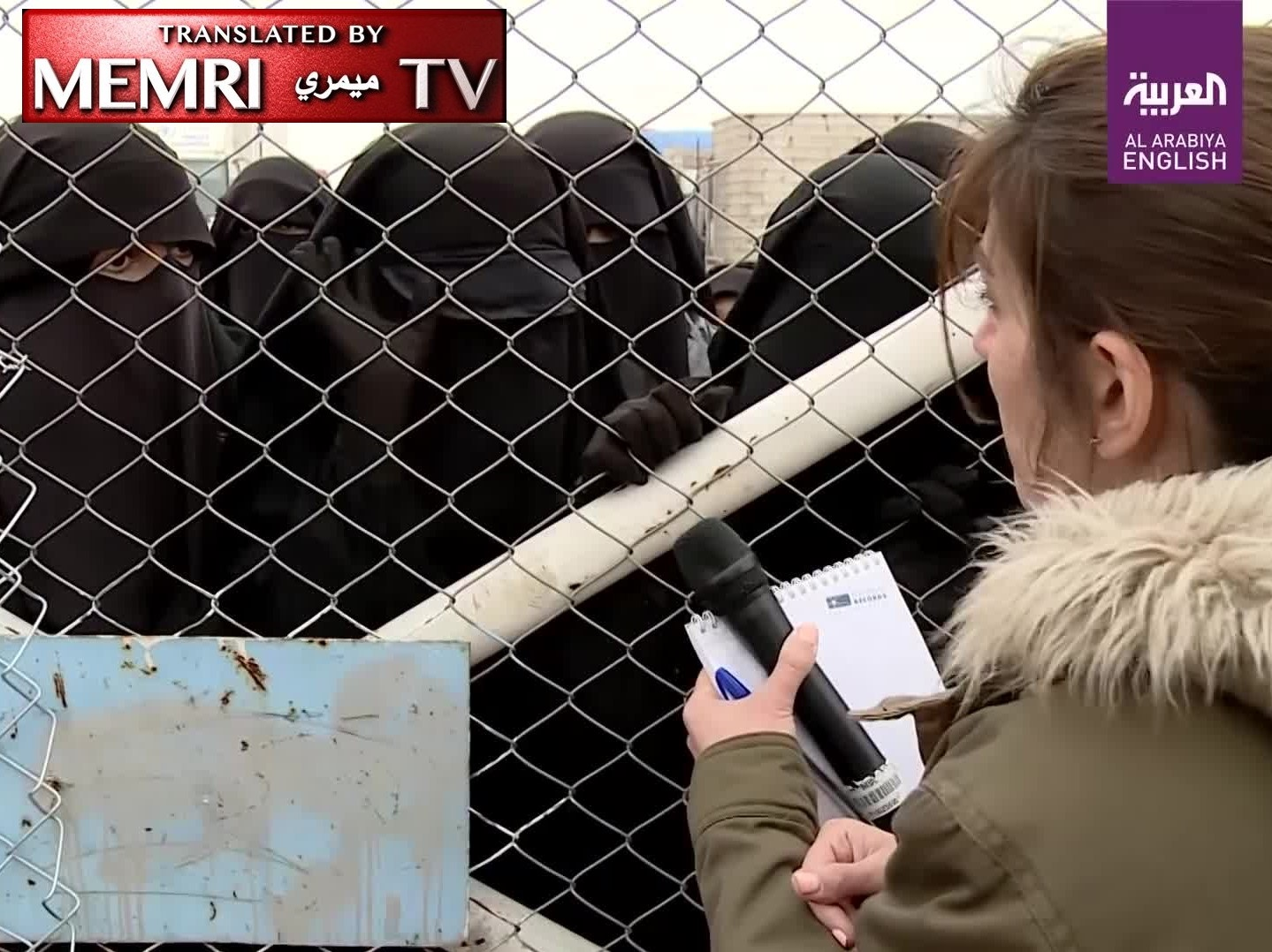 Female ISIS Members at SDF Camp: